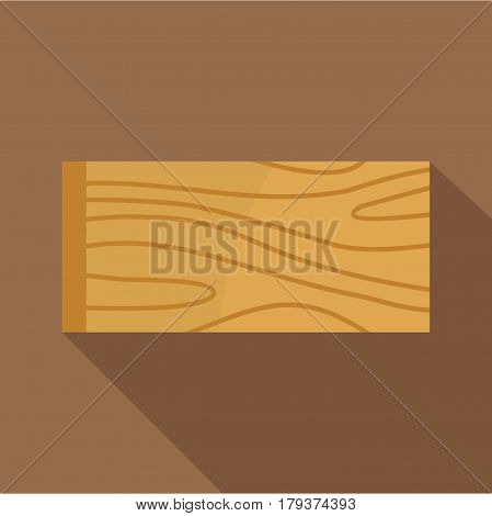 Wooden plank icon. Flat illustration of wooden plank vector icon for web isolated on coffee background