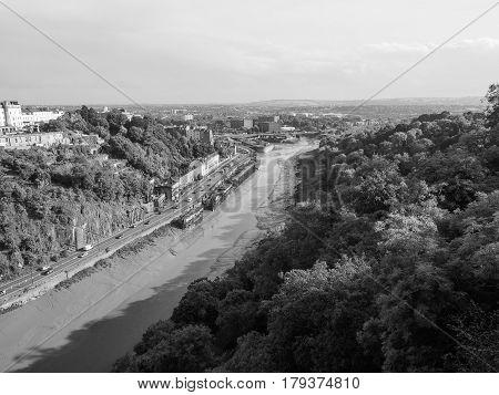 River Avon Gorge In Bristol In Black And White