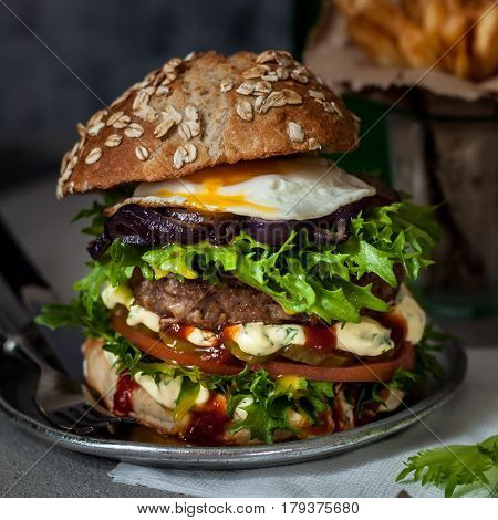 Foodporn Beef Burger, Junk Food