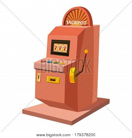 Slot machine icon. Cartoon illustration of slot machine vector icon for web