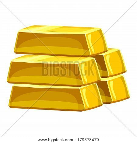 Stack of gold bars icon. Cartoon illustration of stack of gold bars vector icon for web