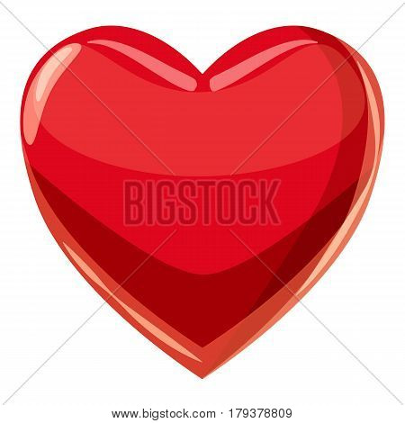 Heart suit plying card icon. Cartoon illustration of heart suit plying card vector icon for web