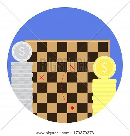 Tactics of earning money. Plan efficiency and innovation profit stack vector illustration