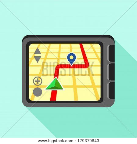 Navigator icon. Flat illustration of navigator vector icon for web