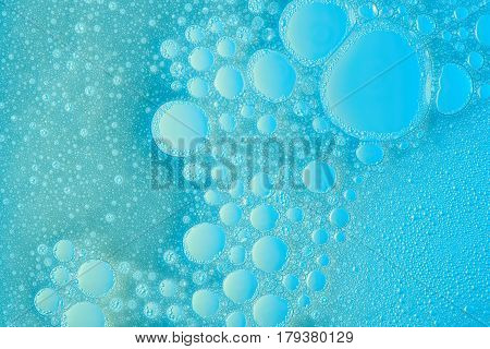 Abstract Blue Bubbles Surface