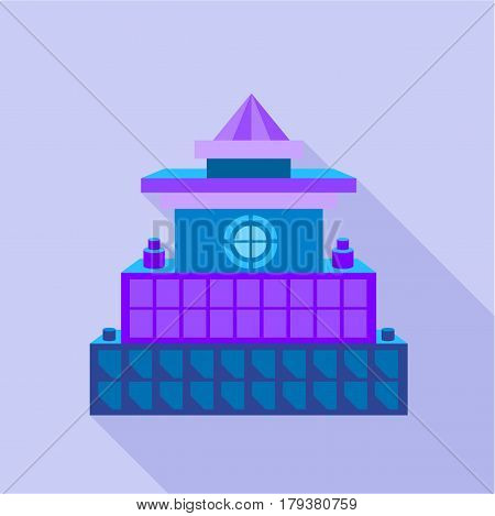 Colorful palace icon. Flat illustration of colorful palace vector icon for web