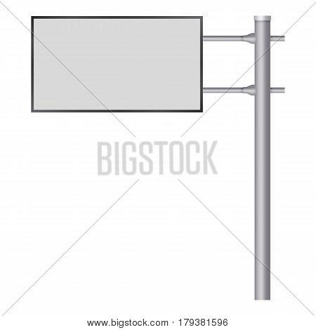Blank big billboard mockup. Realistic illustration of blank big billboard vector mockup for web