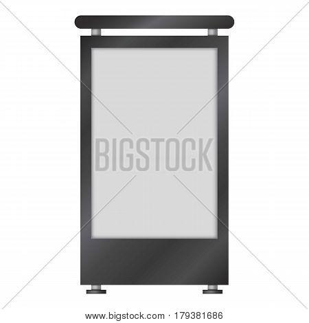 Blank lightbox mockup. Realistic illustration of blank lightbox vector mockup for web