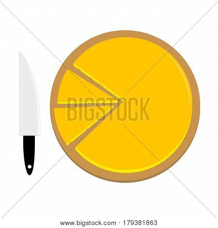 An illustration of a cheese platter without text