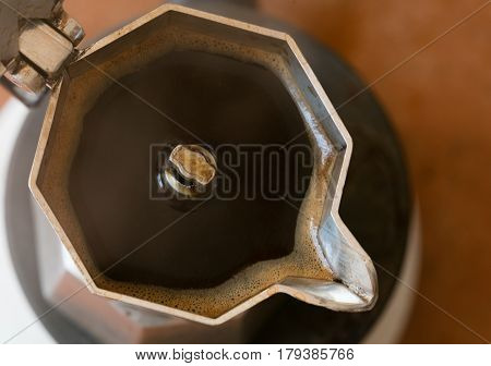 Coffeepot In A Top View