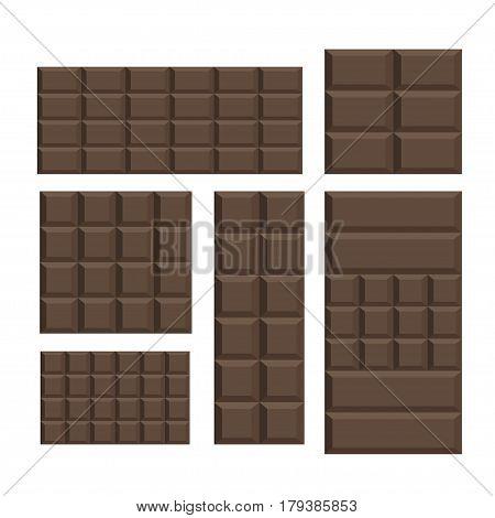 Brown dark Chocolate bar variation pattern background