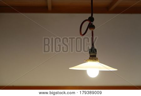 Scenery of the lighting of the room ceiling