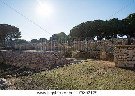 Greco roman ruins of Emporda, Costa Brava, Catalonia, Spain