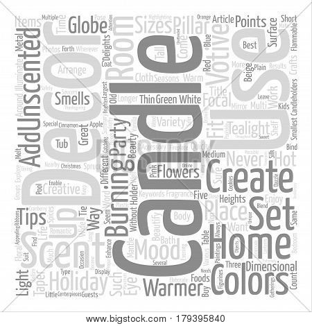 Beautify and Add Fragrance to Your Home Decor with Candles Word Cloud Concept Text Background