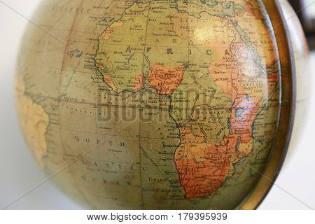 A view of the African continent of the old globe