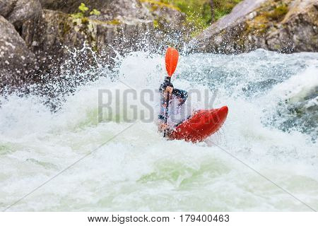 Extreme White Water Mountain Canoeing