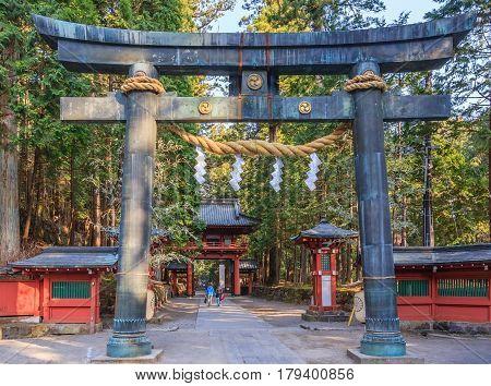 Nikko Futarasan shrine located between Tosho-gu shrine and Taiyu-in Mausoleum in the