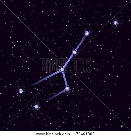 The Great Bear constellation. Vector illustration for your project.