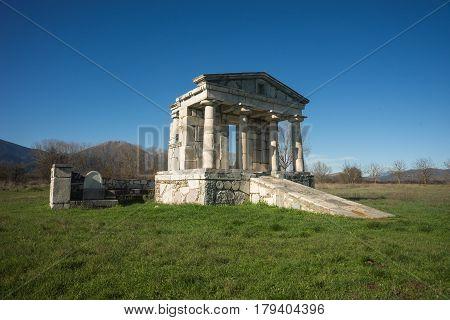 Temple Of Poseidon At Ancient Mantineia, Arcadia, Peloponnese, Greece