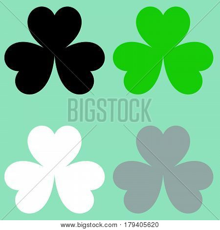 The Leaf Clover Trefoil Icon.