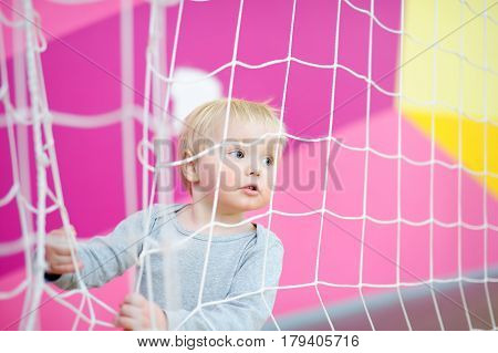 Toddler In Indoors Sport Court