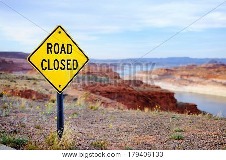 'road Closed' Sign