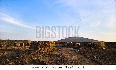 Lava fields around Erta Ale volcano in Danakil, Afar, Ethiopia