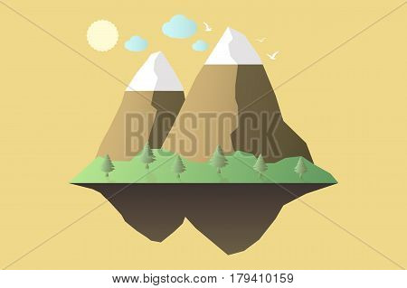 Nature At Noon. Outdoor Design Concept. Beautiful Landscape. Feel The Nature.