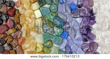 Chakra tumbled healing stones crsytal healing background