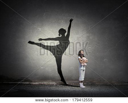 I will become ballerina . Mixed media