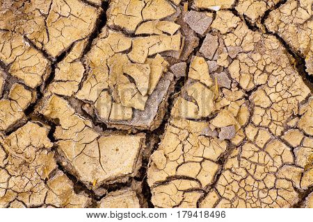 Parched Earth - the effect of Global Warming or climate change. Drought.
