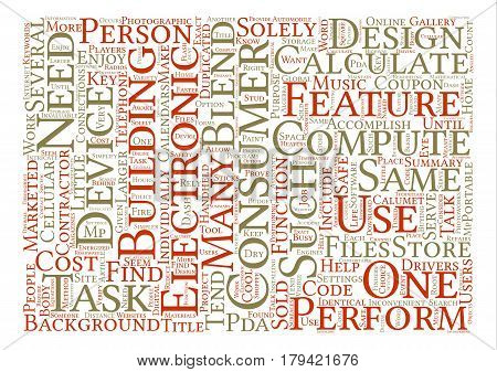Cool Designs In Consumer Electronics text background word cloud concept