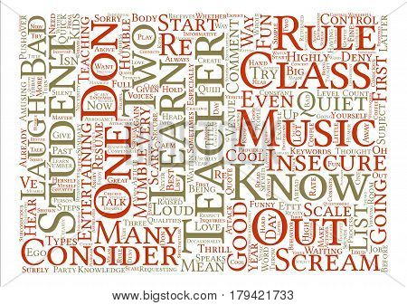 Cool Teachers Rule With Cool Teacher s Rules Word Cloud Concept Text Background
