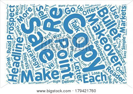 Copy Makeovers Made Easy text background word cloud concept
