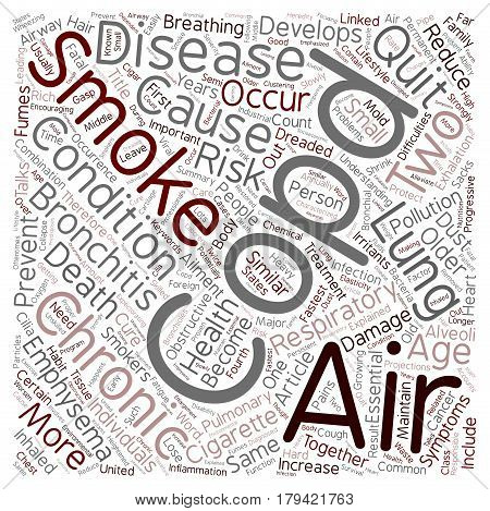 COPD Respiratory Ailment Explained text background wordcloud concept