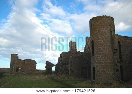 Remains of Slains Castle, Inspiration for Dracula, at Cruden Bay, Aberdeenshire