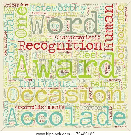 Corporate awards 101 text background wordcloud concept