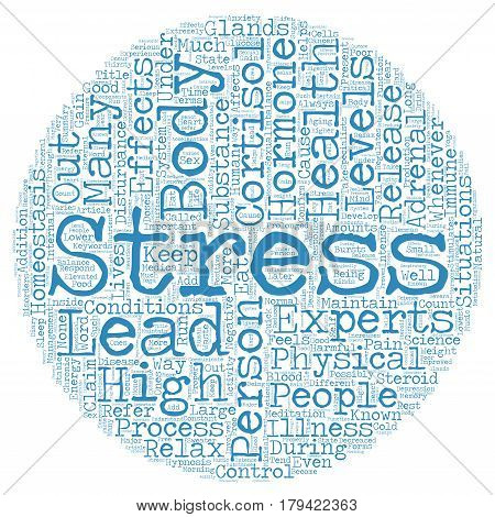 Cortisol The Stress Hormone text background wordcloud concept