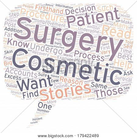 Cosmetic Surgery Patient Stories Why You Should First Read Them 1 text background wordcloud concept
