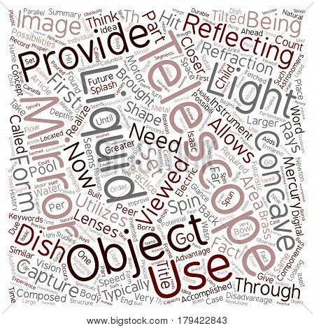 Could A Liquid Mirror Telescope Be A Splash Hit text background wordcloud concept