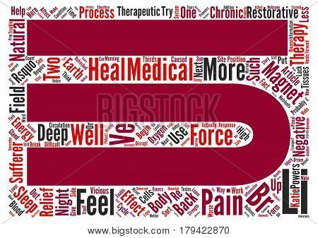 Could Magnetic Therapy Be The Answer To The Back Pain Insomniacs Dream text background word cloud concept