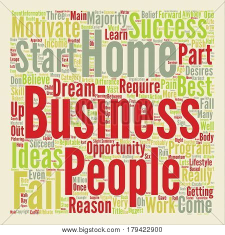 Could You Succeed With A Home Business Word Cloud Concept Text Background