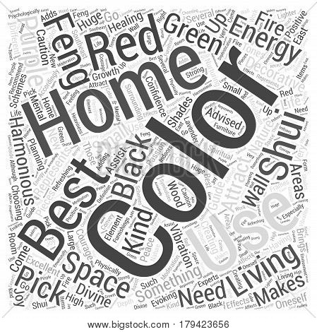 Creating a Harmonious Feng Shui Home with Colors Word Cloud Concept