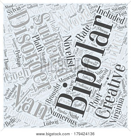 Creativity and Bipolar Disorder Word Cloud Concept