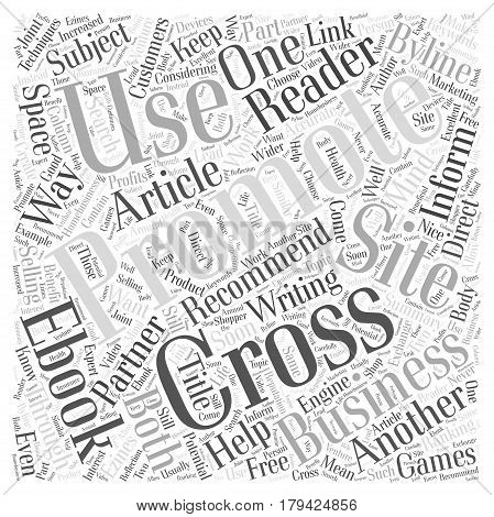 Cross Promoting Techniques that Work Word Cloud Concept