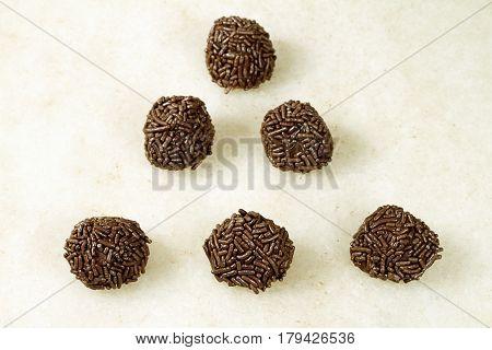 chocolate granules cocoa brigadeiro gourmet Brazilian   dessert