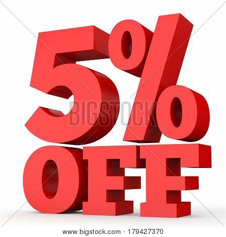 Five Percent Off. Discount 5 %.