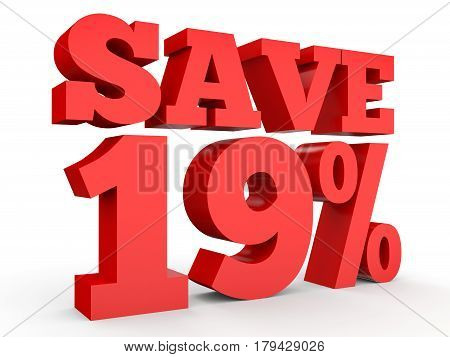 Nineteen Percent Off. Discount 19 %.