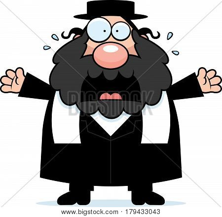 Scared Cartoon Rabbi