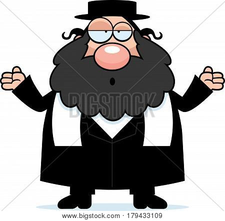 Confused Cartoon Rabbi